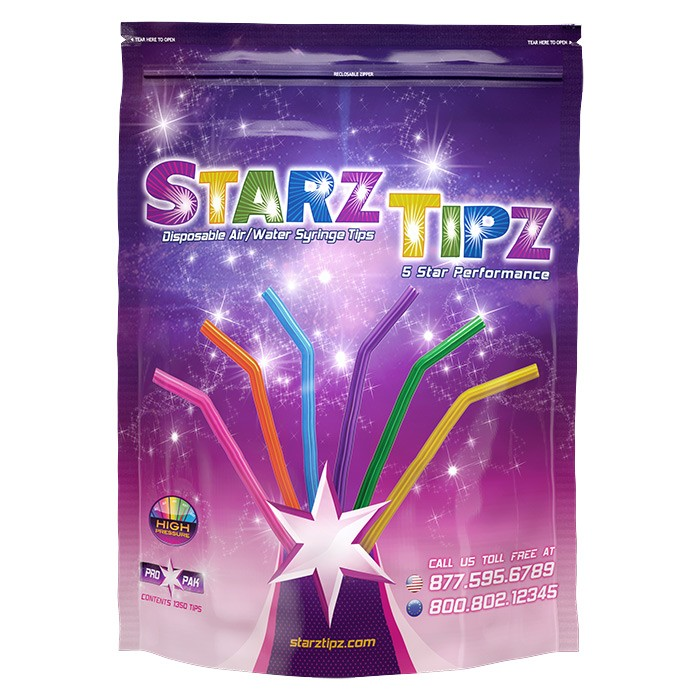 Air/Water Syringe Tips | Starz Tipz HP 1350 Tips